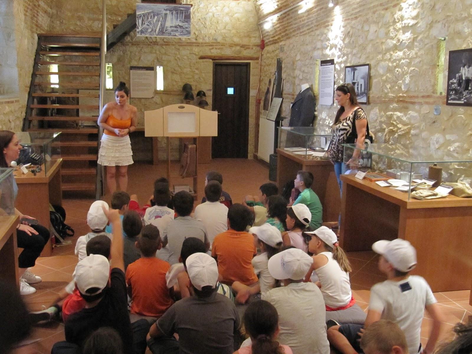 Επίσκεψη των παιδιών του Πολιτιστικού Κέντρου Αγίου Γεωργίου στο μουσείο Εθνικής Αντίστασης