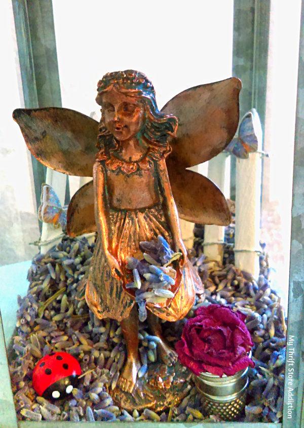 Lavender fairy scented mini garden