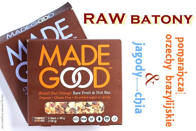 Raw batony pomarańcza i orzechy brazylijskie / jagody i chia - Made Good