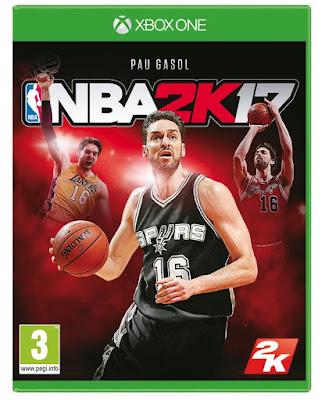 Pau Gasol será portada de NBA 2K17 en España