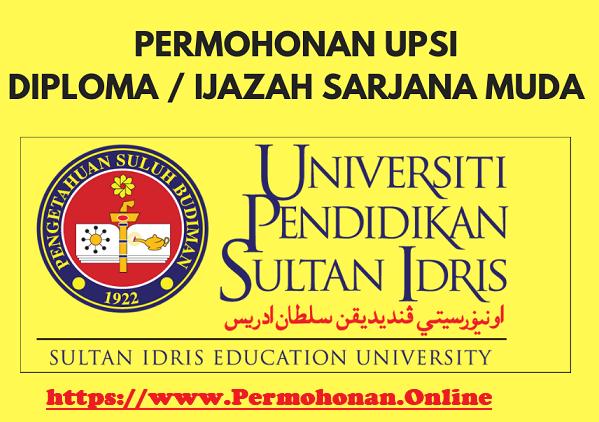 PERMOHONAN ONLINE UPSI LEPASAN SPM SESI 2020 / 2021 ...