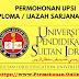 PERMOHONAN ONLINE UPSI LEPASAN SPM SESI 2020 / 2021