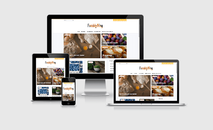 Fooddy Blogger Template Premium