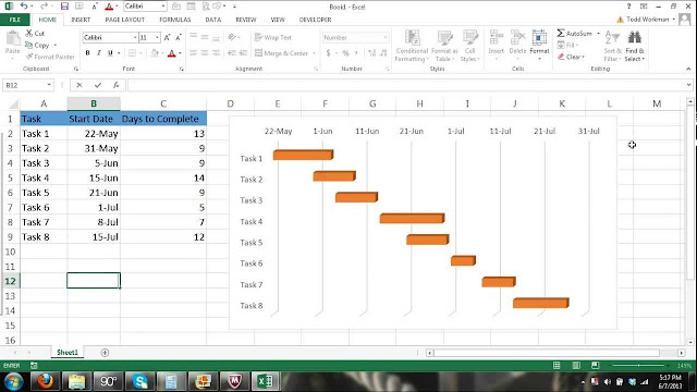 Leanr How to draw a Gantt chart