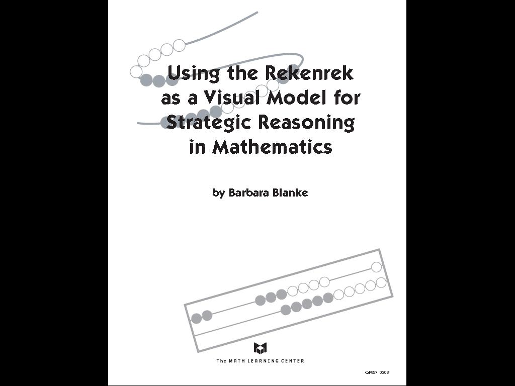 Building Number Sense: Rekenrek Resources and Guides