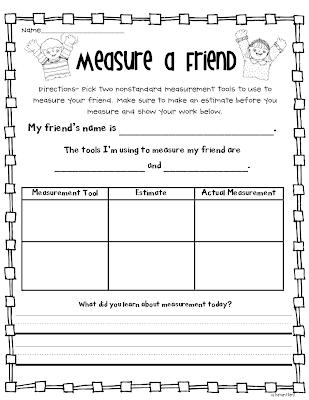 classroom freebies measurement fun freebies. Black Bedroom Furniture Sets. Home Design Ideas