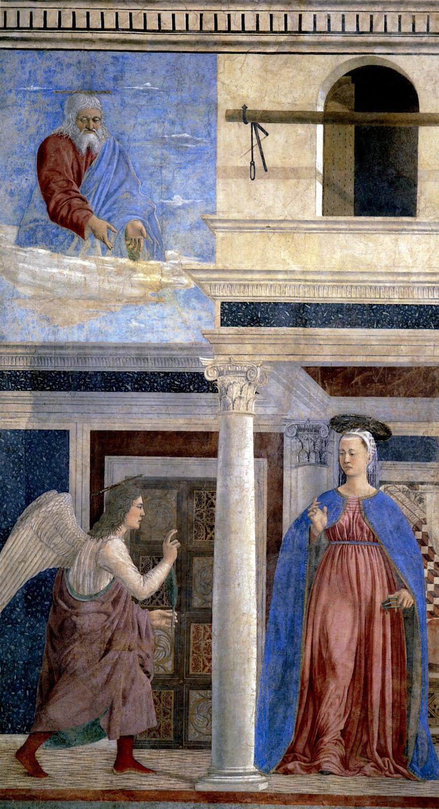 Piero  della  Francesca  The  History  of  the  True  Cross        Annunciation
