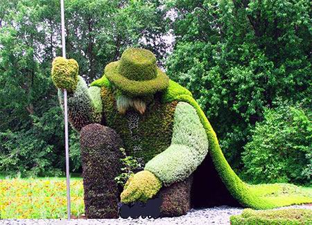 بالصور: مجسمات رائعة من نباتات طبيعية