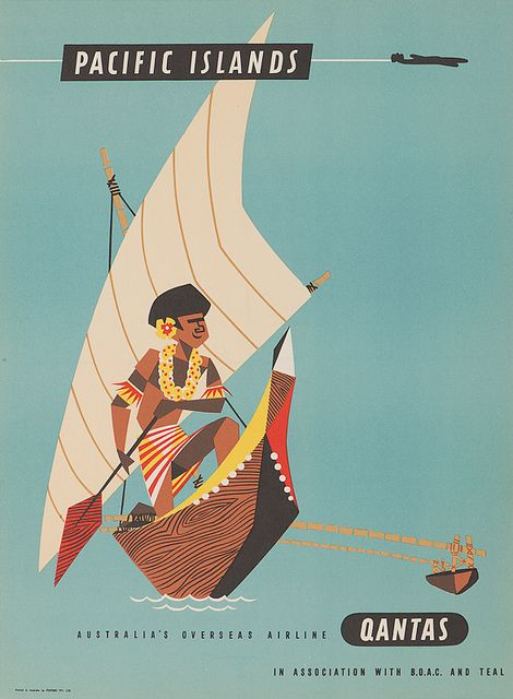 Quantas - Pacific Islands Vintage Travel Poster