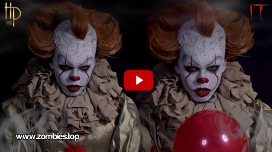 Video maquillaje de Pennywise de IT