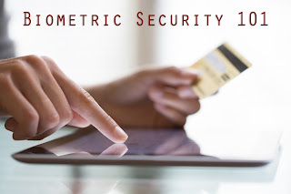 Photo of tablet user fingerprint authentication