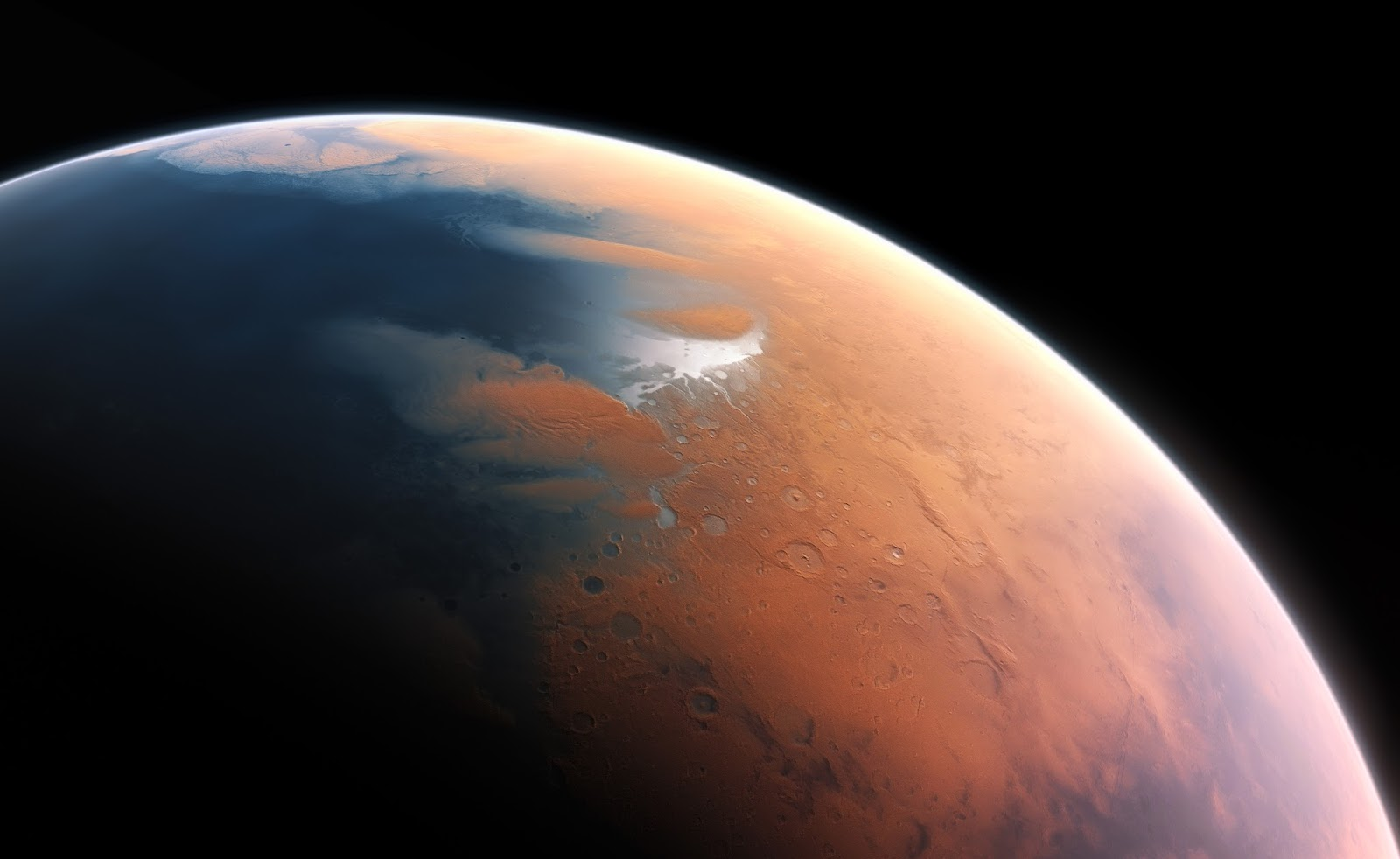 Mars four billion years ago - The Planet that Lost an Ocean's Worth of Water