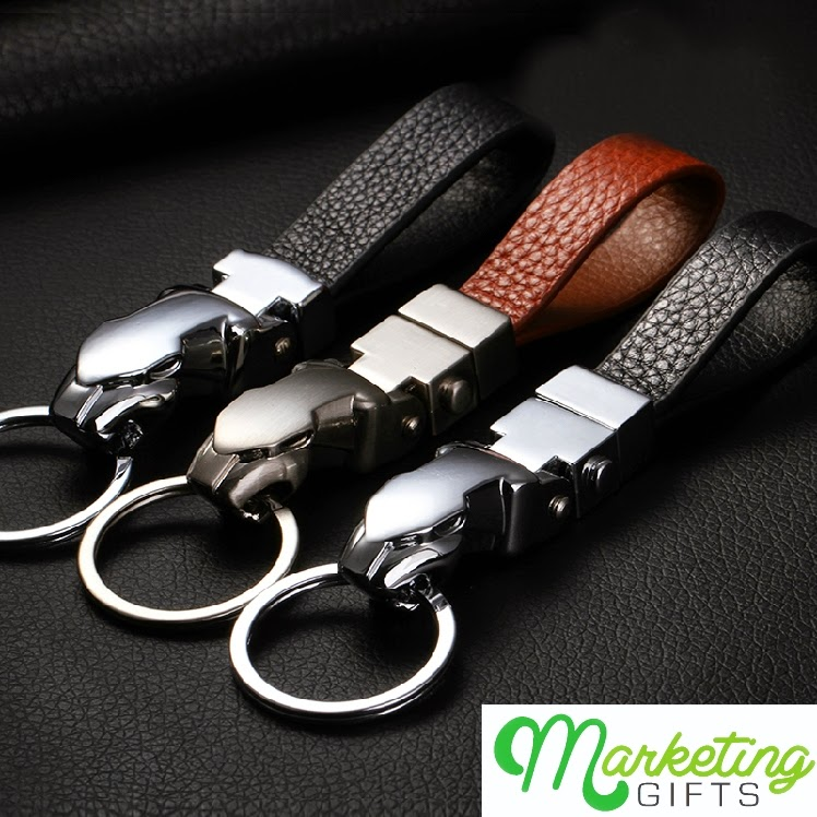High-End Leather Keyring