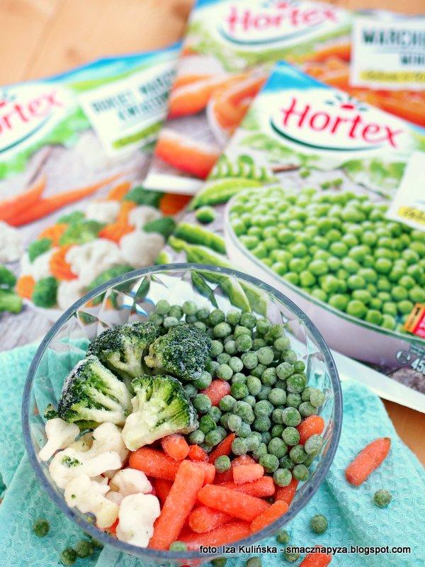 mrozonki, zimowy warzywniak, z zamrazarki, groszek, mini marchewka, brokuly, kalafior, hortex