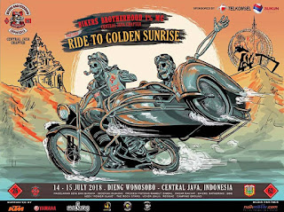 Bikers Brotherhood 1% MC Indonesia all chapter Dieng Wonosobo 14-15 Juli 2018