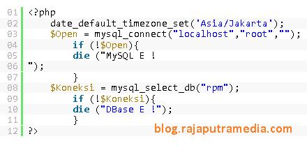 cara setting timezone menggunakan PHP