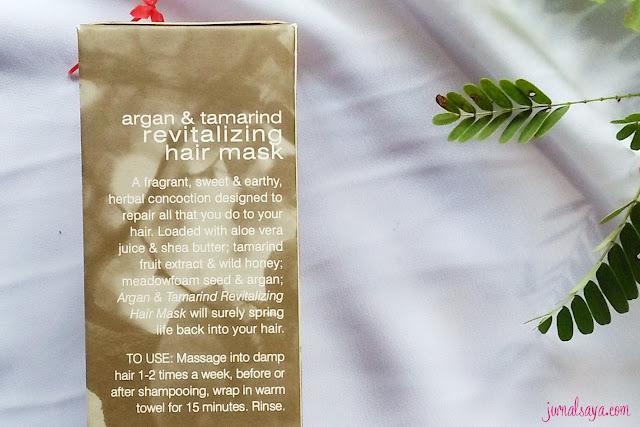 hair mask dari bahan alami argan oil