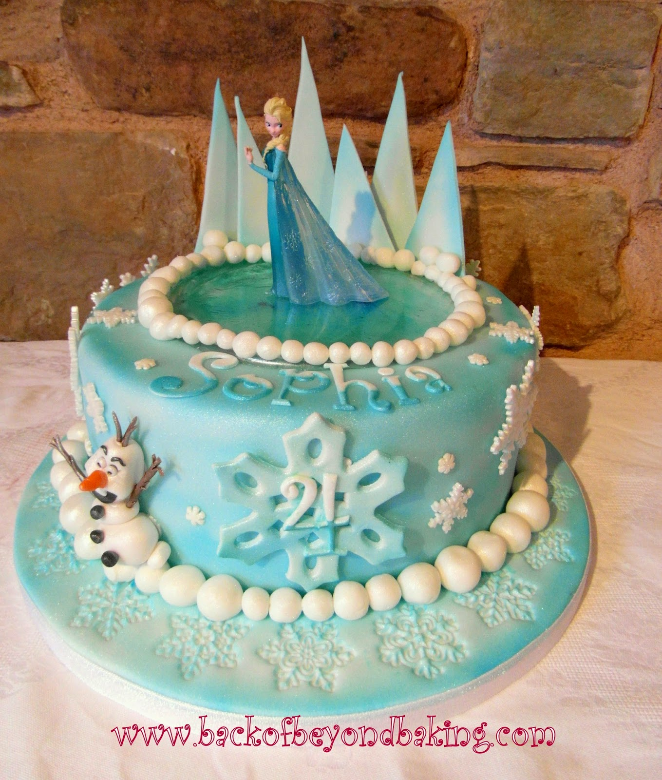 4th Birthday Elsa Olaf Birthday cake