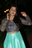 Nikki Galrani in Green Skirt  Top at Marakathamani music launch ~  Exclusive (60).JPG