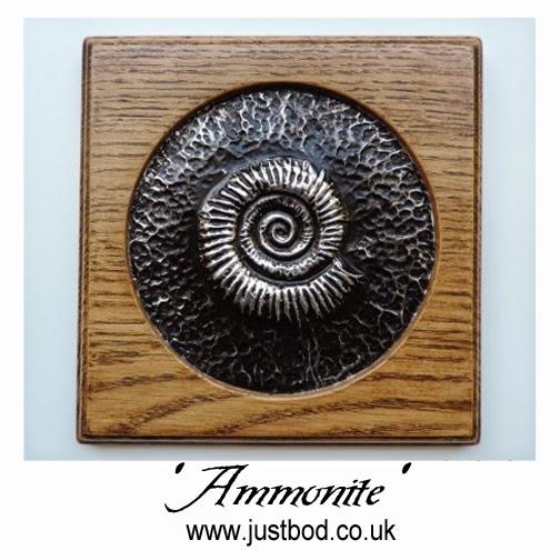 Metal ammonite wall plaque