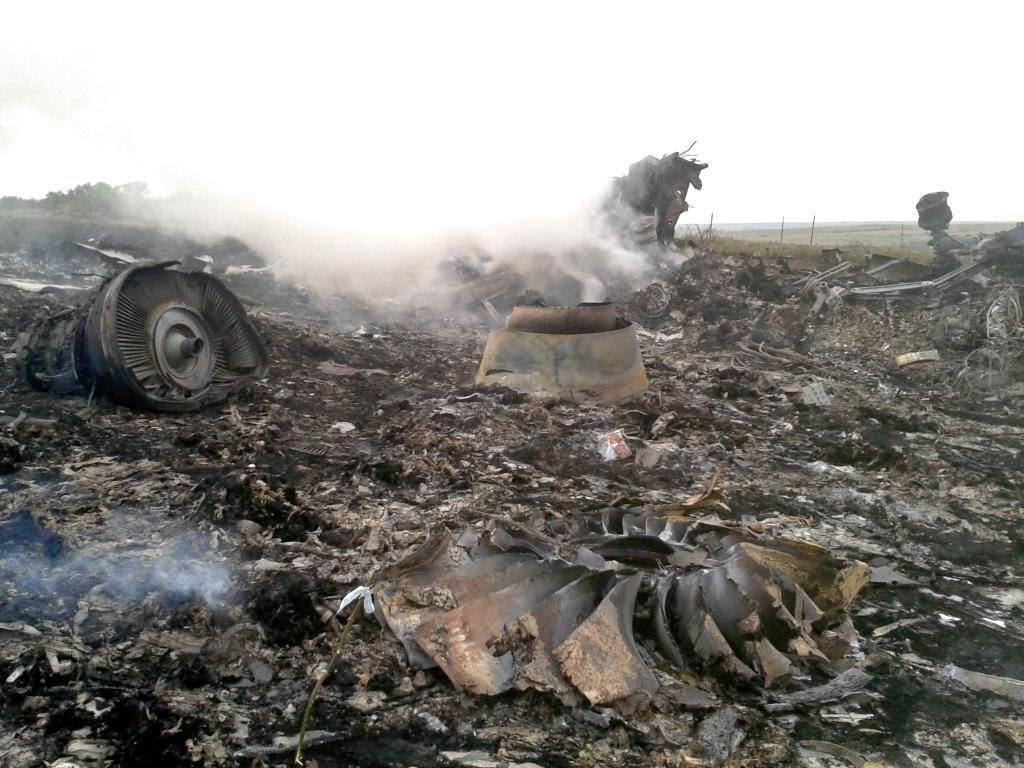 Inilah Foto Foto Puing Pesawat Jatuh Malaysian Airlines MH17