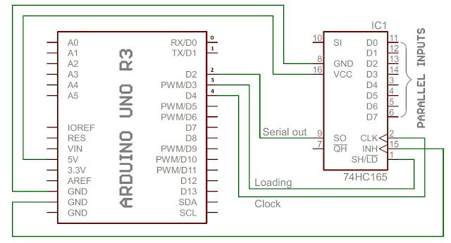 74HC165 with Arduino UNO