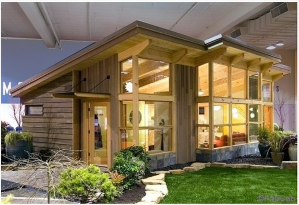 Wooden Home: Passive Solar Modular Home Designs: Green, Off-grid, Small