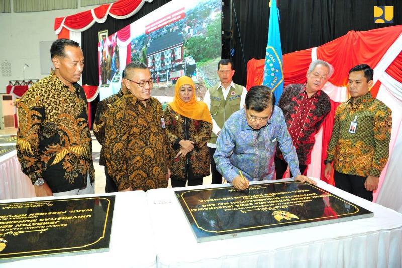 Wapres Jusuf Kalla Resmikan Rusunawa Mahasiswa UMM 4 Lantai Kapasitas 50 unit