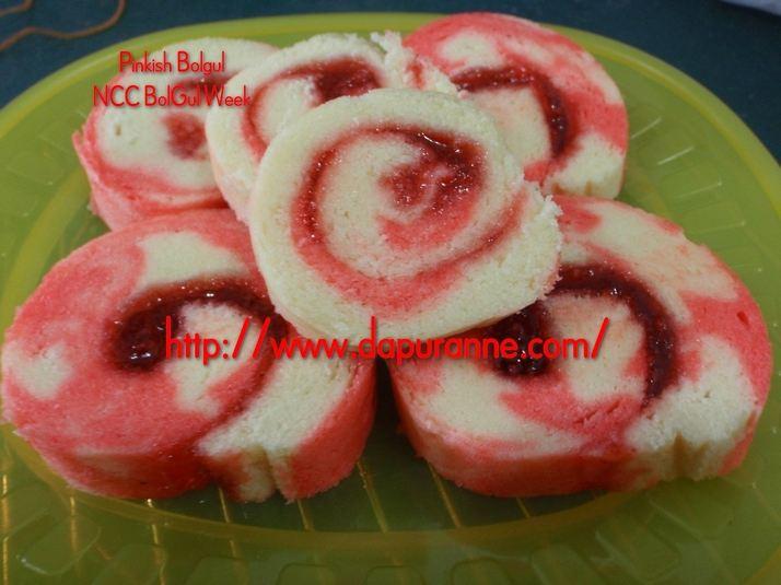 Resep Rainbow Cake Ncc Fatmah Bahalwan: NCC Bolgul Week: Bolu Gulung Marmer Kukus By Anne