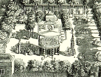Vauxhall Gardens from an engraving dated 1751 from South London  by W Besant (1899) - cropped to the Grove