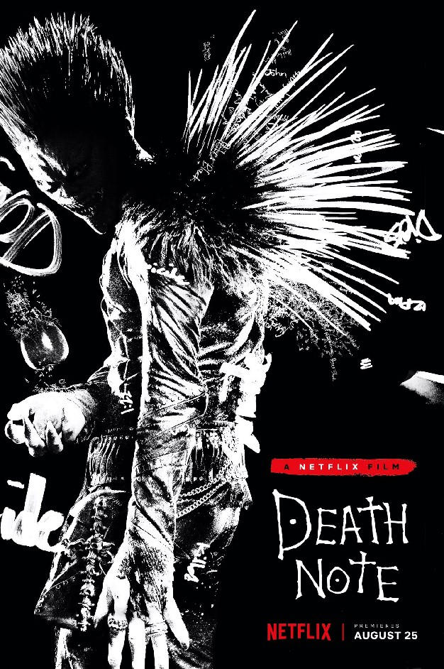 Plakat filmu Death Note - Notatnik śmierci od Netflixa