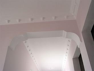 Kartonpiyer tavan ve koridor ile kapı kemer süslemeleri