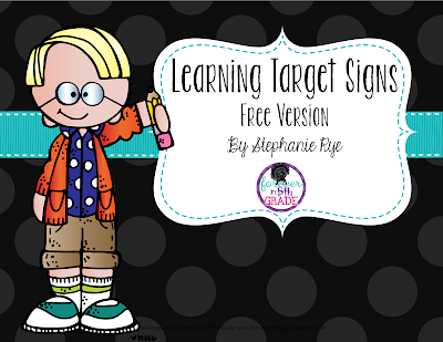 Editable Learning Target Poster Home Reading Log