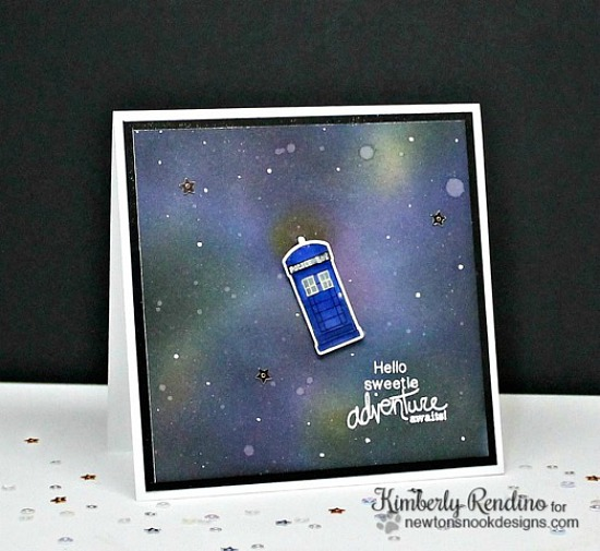 Doctor Who - Adventure Awaits Card by Kimberly Rendino | Newton Dreams of London Stamp set by Newton's Nook Designs #newtonsnook #doctorwho