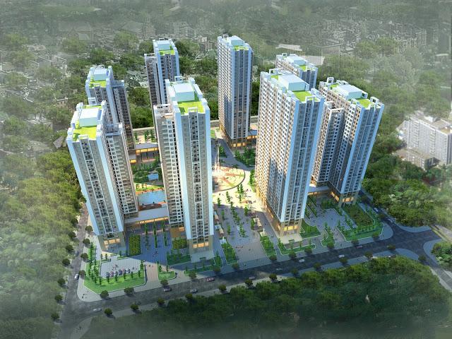 Phối cảnh tổng quan chung cư An Bình City - 232 Phạm Văn Đồng