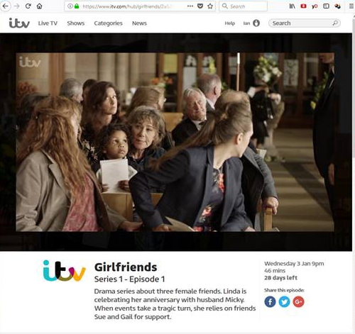 The Three ITV Girfriends Kay Mellor 2018