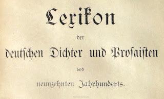Lexikon der deutschen Dichter und Prosaisten des neunzehnten Jahrhunderts. Leipzig 1890
