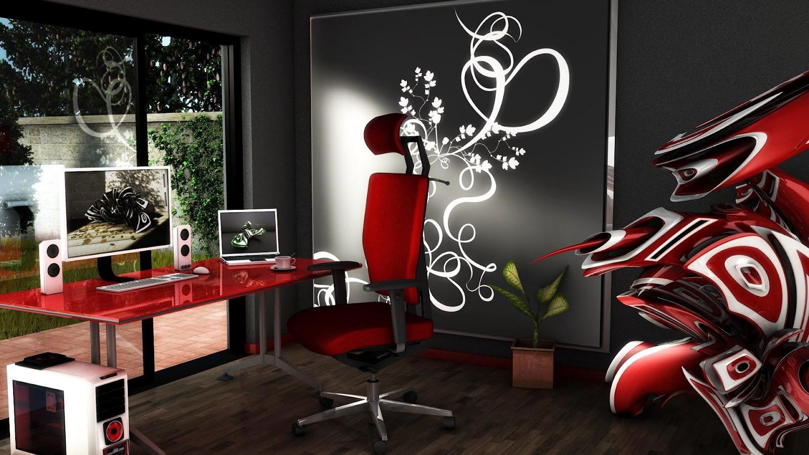 Cool Office 3D Design ~ Mystery Wallpaper