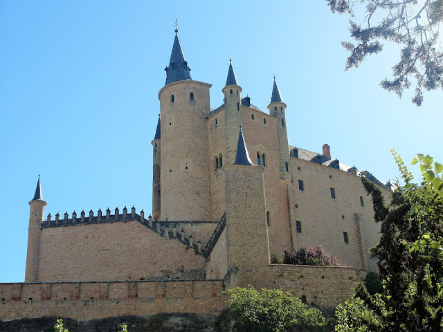 sagoslott i Spanien - Segovia