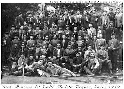 Mineros de Tudela Veguín, 1919