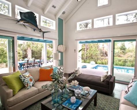 Go Coastal With Blue And Orange Room Decor Coastal Decor Ideas Interior Design Diy Shopping