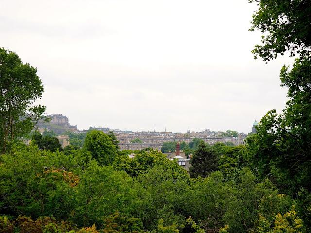 City view from Royal Botanic Gardens Edinburgh