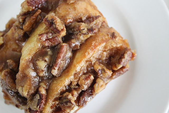 Praline Pecan-Topped French Toast & Sausage Casserole