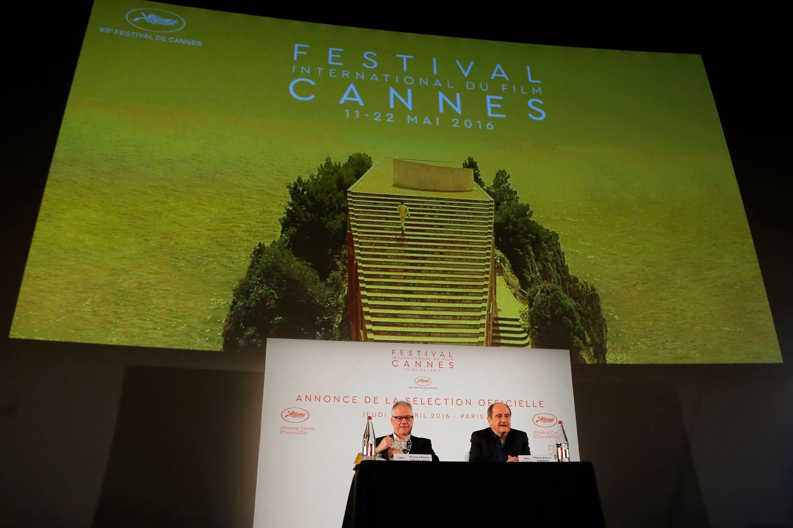 Cannes Festival Director Thierry Frmaux leftand President