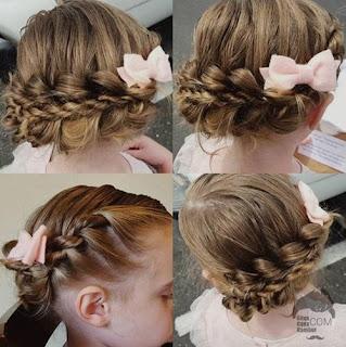 model gaya rambut anak perempuan di kepang