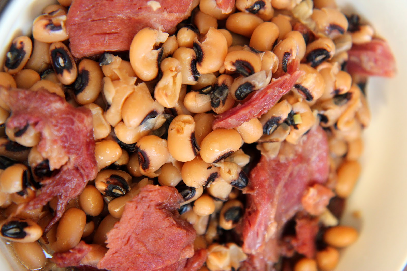 This easy slow cooker recipe uses a bag of dried black eyed peas, a ham bone, a little garlic and lots of time in the crockpot!