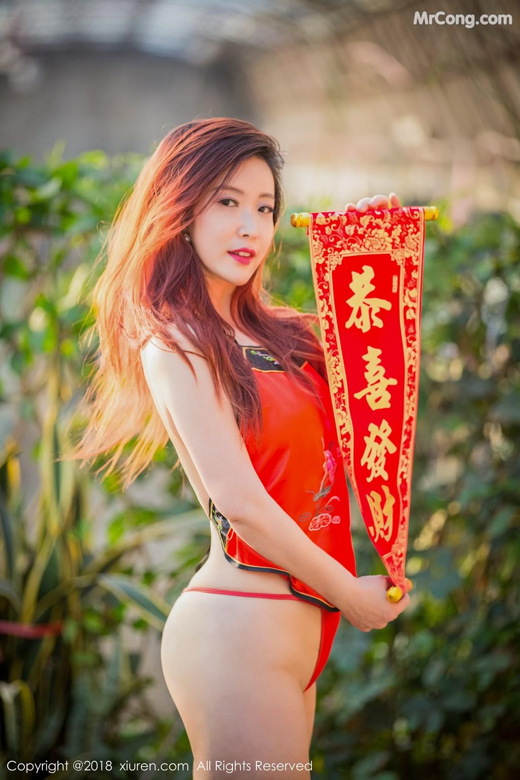 Image XIUREN-No.887-Xi-Xi-Bai-Tu-MrCong.com-002 in post XIUREN No.887: Người mẫu Xi Xi Bai Tu (西希白兔) (44 ảnh)