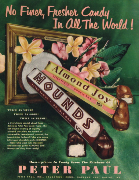 Mounds Chocolate Bar Commercial