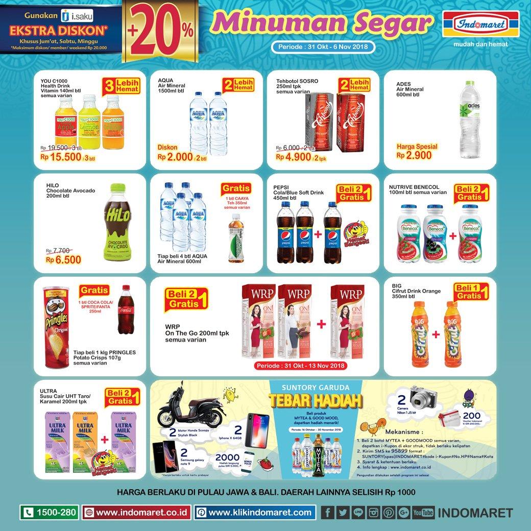 Indomaret - Promo Katalog Minuman Segar Periode 31 Okt - 06 Nov 2018