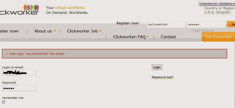 Clickworker Login